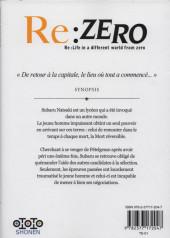 Verso de Re:Zero (Re : Life in a different world from zero) -34- Troisième arc : Truth of Zero