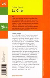 Verso de Le chat -1Librio- Le Chat