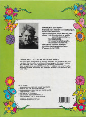 Verso de Chlorophylle (Série verte) -3a1984- Chlorophylle contre les rats noirs