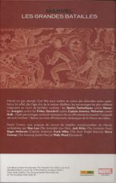 Verso de Marvel: Les Grandes batailles  - Les grandes batailles