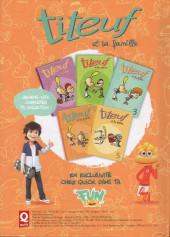 Verso de Titeuf (Publicitaire) -Quick4- Titeuf et sa famille