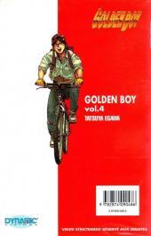 Verso de Golden Boy -4- Vol 4