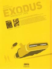 Verso de Exodus Manhattan -2- Tome 2