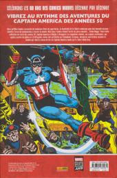Verso de Les décennies Marvel -2- Les années 50 : Captain America : La Légende
