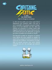 Verso de Capitaine Static -8- Le duel des super-héros