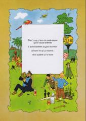 Verso de Tintin (en langues régionales) -17Sarthois- N'on a piâné su' la leune