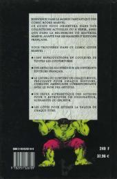 Verso de (DOC) Marvel Comics - Comic guide Marvel en France 1970 à 2000 aux éditions Marvel France, Arédit/Artima, etc...