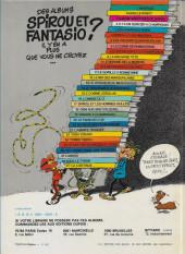Verso de Spirou et Fantasio -14b1982- Le prisonnier du Bouddha