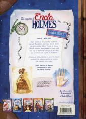 Verso de Les enquêtes d'Enola Holmes -6- Métro Baker Street