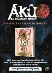 Verso de Akû - le Chasseur Maudit -1Extrait- Tome 1