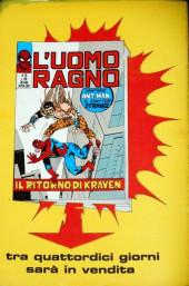 Verso de L'uomo Ragno V1 (Editoriale Corno - 1970)  -28- Il Ritorno di Kraven