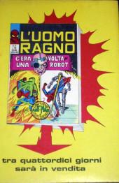Verso de L'uomo Ragno V1 (Editoriale Corno - 1970)  -30- Quando cade una Meteora