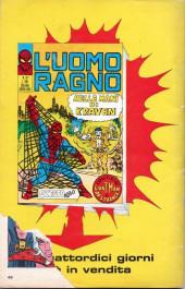Verso de L'uomo Ragno V1 (Editoriale Corno - 1970)  -40-