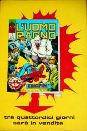 Verso de L'uomo Ragno V1 (Editoriale Corno - 1970)  -45- X-Men