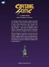 Verso de Capitaine Static -9- La Maison hantée