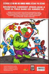 Verso de Les décennies Marvel -3- Les années 60 : Spider-man rencontre l'univers marvel