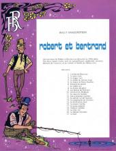 Verso de Robert et Bertrand -20- Le dernier chèvralier