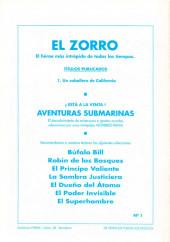 Verso de El Zorro -1- Un caballero de California