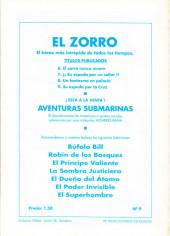 Verso de El Zorro -9- Su espada por la cruz