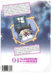 Verso de Classroom for Heroes -4- Tome 4