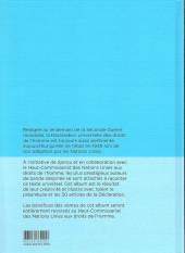 Verso de Spirou défenseur des droits de l'homme