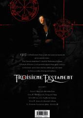 Verso de Le troisième Testament -3a2016- Luc ou Le Souffle du Taureau