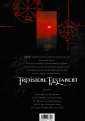 Verso de Le troisième Testament -4a2016- Jean ou Le Jour du Corbeau