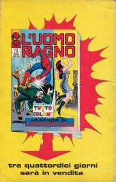 Verso de L'uomo Ragno V1 (Editoriale Corno - 1970)  -53- Uccidete l'Uomo Ragno