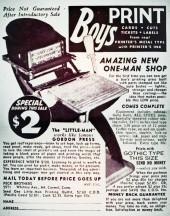 Verso de Marvel Mystery Comics (Timely - 1939) -5- (sans titre)