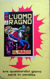 Verso de L'uomo Ragno V1 (Editoriale Corno - 1970)  -55- Vittoria Amara
