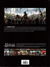 Verso de Ils ont fait l'Histoire -6FL- Gensis Khan