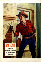 Verso de Bob Colt (1950) -3- The mysterious Black Knight of the Prairie !
