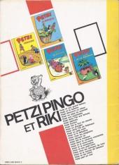 Verso de Petzi (Première série) -9- Petzi fait le tour du monde