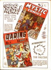Verso de Marvel Mystery Comics (Timely - 1939) -8- (sans titre)