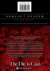 Verso de Goblin Slayer : Year One -1- Tome 1