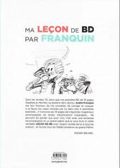 Verso de (AUT) Brunel - Ma leçon de BD par Franquin