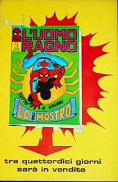 Verso de L'uomo Ragno V1 (Editoriale Corno - 1970)  -58- Medusa