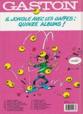 Verso de Gaston -R5b1994- Le lourd passé de Lagaffe