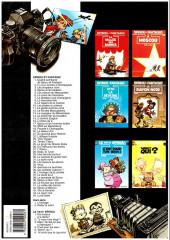 Verso de Spirou et Fantasio -6c1997- La corne de rhinocéros