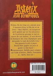 Verso de Astérix (Hors Série) -C07 Bis- Astérix aux Jeux Olympiques