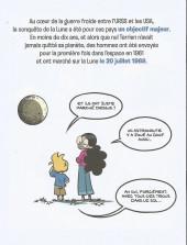 Verso de Le fil de l'Histoire (raconté par Ariane & Nino) -HC- Le premier pas sur la Lune (Mission Apollo)