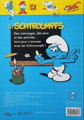 Verso de Les schtroumpfs (Jeux) - Les schtroumpfs activités et coloriages