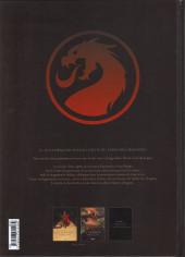 Verso de Le dernier dragon -2- Les cryptes de Denderah