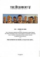 Verso de Regiment (The) - L'Histoire vraie du SAS -1DP- Livre 1