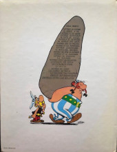 Verso de Astérix -2e1981- La Serpe d'Or