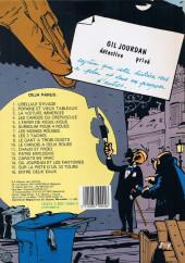 Verso de Gil Jourdan -16a1983- Entre deux eaux