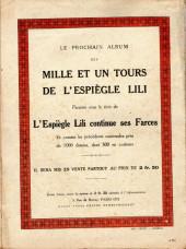 Verso de Lili (L'espiègle) -3a1921- L'espiègle Lili en pension