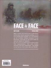 Verso de Face-à-face -1- Hiltler - Staline