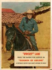 Verso de Fawcett Movie Comic (1949/50) -7- Gunmen of Abilene
