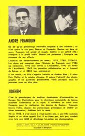 Verso de Gaston (Hors-série) -HS- Gaston, Biographie d'un gaffeur